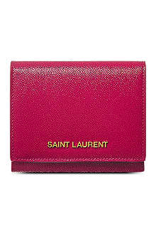 SAINT LAURENT Small logo flap wallet