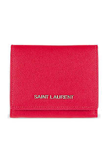 SAINT LAURENT Small flap wallet