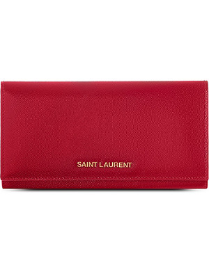 SAINT LAURENT Large logo flap wallet