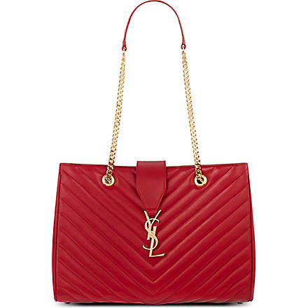 SAINT LAURENT Monogramme tote (Rouge