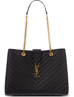 SAINT LAURENT Monogramme leather tote