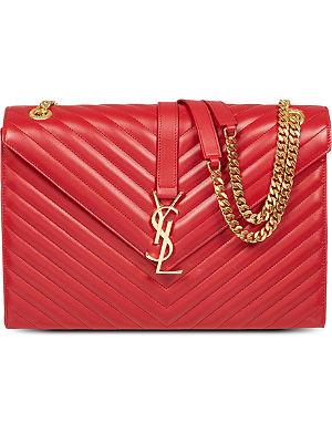 SAINT LAURENT Monogramme large leather satchel