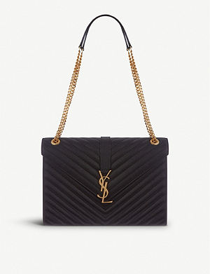 SAINT LAURENT Monogramme large leather satchel