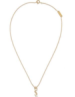SAINT LAURENT Monogramme necklace