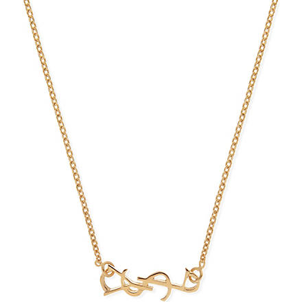 SAINT LAURENT Monogramme necklace (Gold