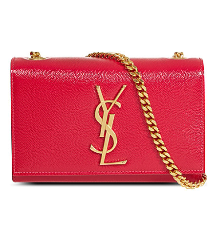 SAINT LAURENT Leather cross-body bag (Pink