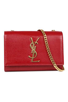 SAINT LAURENT Monogramme small grainy leather shoulder bag