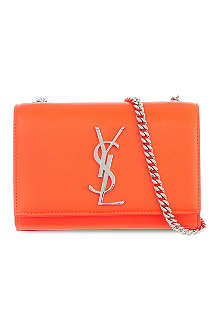 SAINT LAURENT Monogram neon cross-body bag