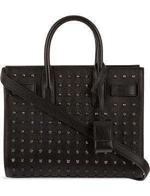 SAINT LAURENT Mini all over black stud bag