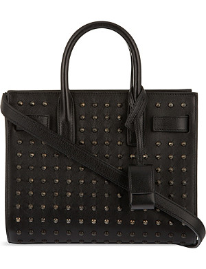 SAINT LAURENT Mini all over black stud bag