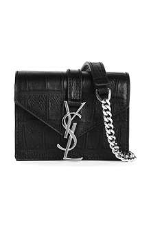 SAINT LAURENT Monogramme Candy mock-croc bag