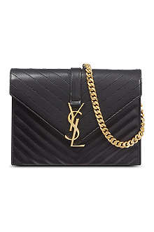SAINT LAURENT Monogramme envelope satchel