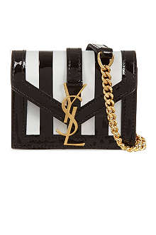 SAINT LAURENT Monogramme striped candy bag