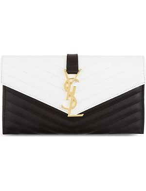SAINT LAURENT Monogramme envelope clutch
