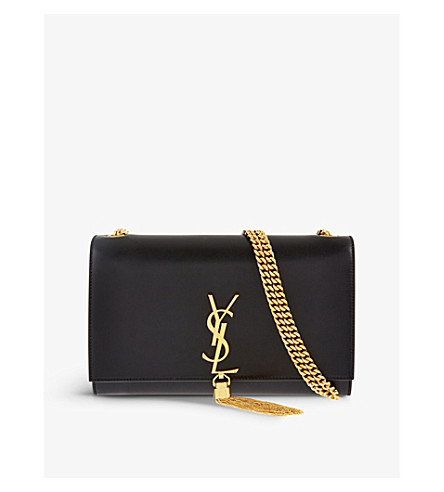 SAINT LAURENT Monogram medium leather shoulder bag (Black