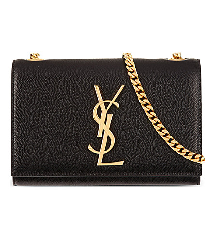 SAINT LAURENT Monogram small leather cross-body bag (Black
