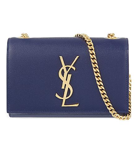 SAINT LAURENT Monogram small leather shoulder bag (Blue