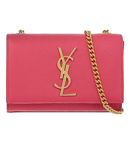 SAINT LAURENT Monogram small leather shoulder bag (Lipstick pink