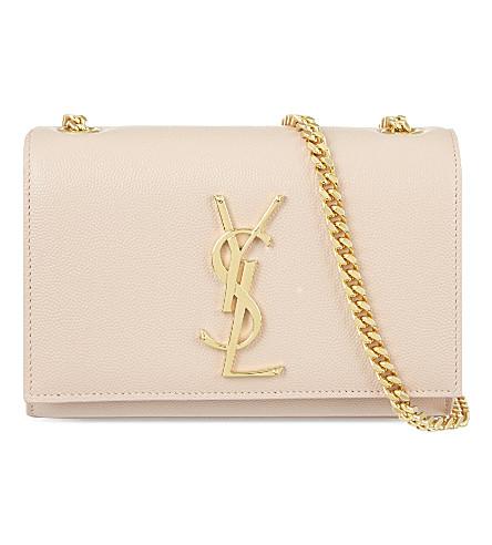 SAINT LAURENT Monogram small leather shoulder bag (Pale blush