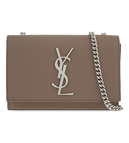 SAINT LAURENT Monogram leather shoulder bag (Fard+poudre