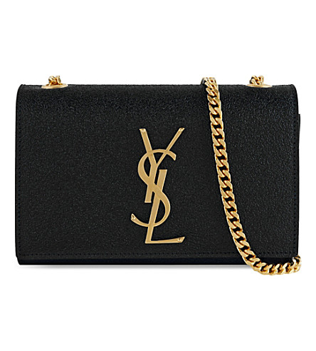 SAINT LAURENT Chain leather cross-body bag (Black