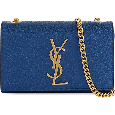 SAINT LAURENT Monogramme chain strap bag (Blue