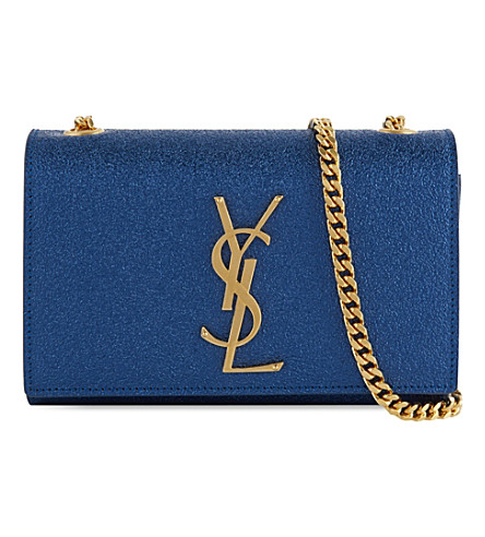 SAINT LAURENT Monogramme chain strap bag (Blue