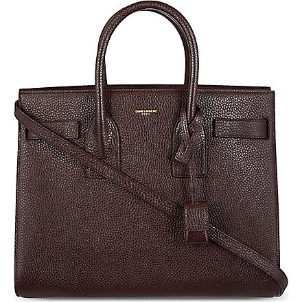 SAINT LAURENT Sac du Jour small grained leather tote (Bordeaux