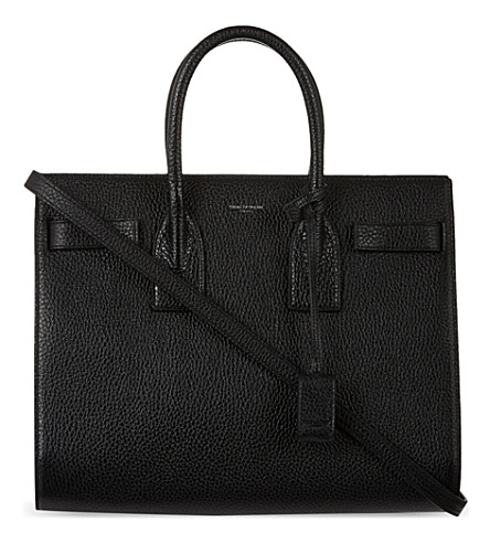 SAINT LAURENT Sac de Jour small grained leather tote (Black