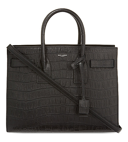 SAINT LAURENT Sac de Jour small leather tote (Black