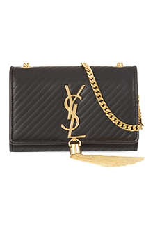 SAINT LAURENT Mongramme tassel small cross-body bag