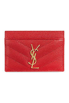 SAINT LAURENT Monogramme quilted card holder