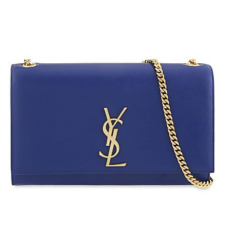 SAINT LAURENT Monogram medium leather shoulder bag (Outremer blue