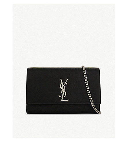 SAINT LAURENT Kate Monogram leather shoulder bag (Black