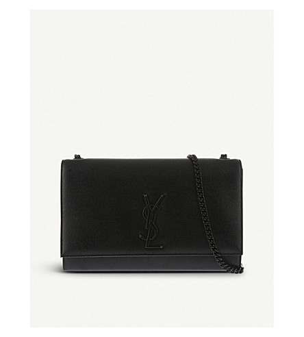 SAINT LAURENT Medium grain leather satchel (Black