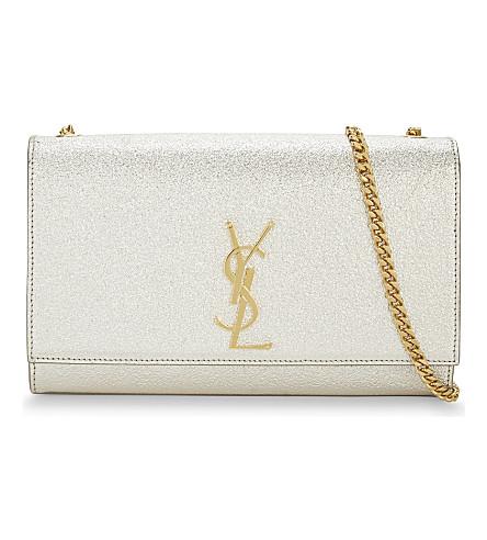 SAINT LAURENT Monogram medium leather shoulder bag (Gold