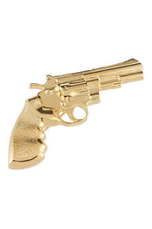 SAINT LAURENT Hand gun brooch