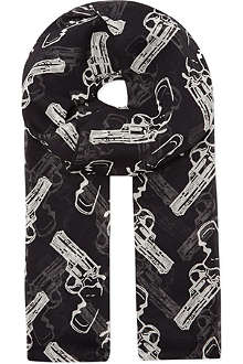 SAINT LAURENT Gun print scarf