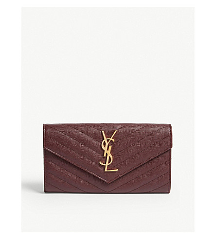 Monogram quilted leather wallet