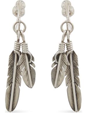 SAINT LAURENT Plumes charm earrings