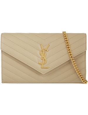 SAINT LAURENT Quilted envelope clutch