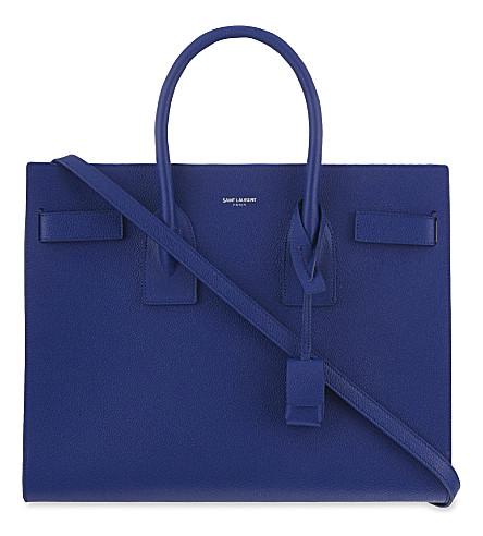 SAINT LAURENT Sac de Jour small leather tote (Outremer blue