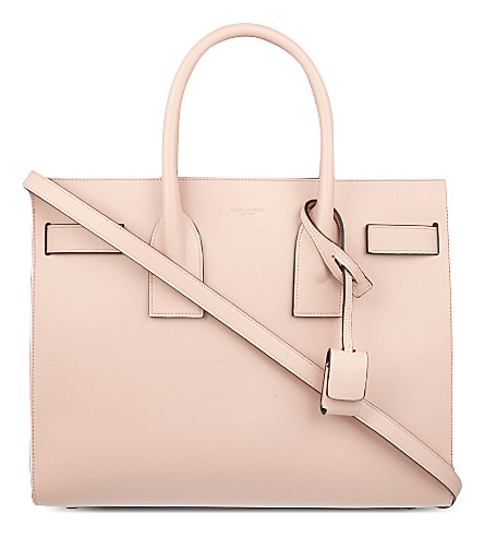 SAINT LAURENT Sac de Jour small smooth leather tote (Pale+blush