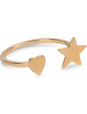 SAINT LAURENT Star and Heart ring