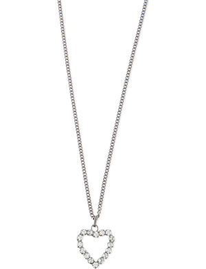 SAINT LAURENT Crystal heart necklace