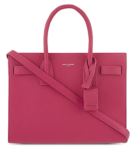 SAINT LAURENT Baby Sac de Jour leather tote (Lipstick+fushia
