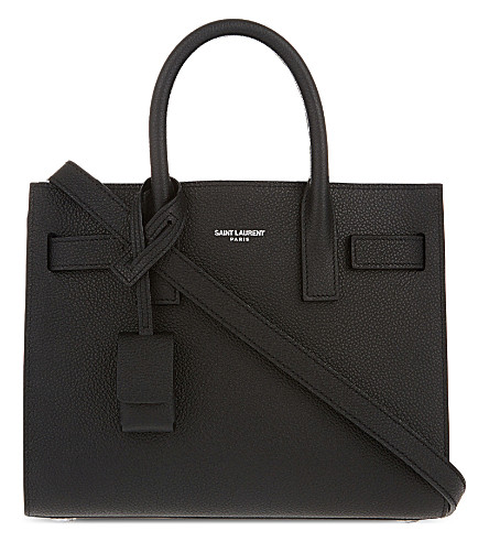 SAINT LAURENT Sac de Jour nano grained leather tote (Black