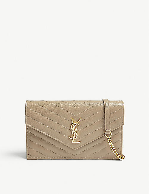 Valentino Womens Pouch On Sale, Gold, Leather, 2017, one size
