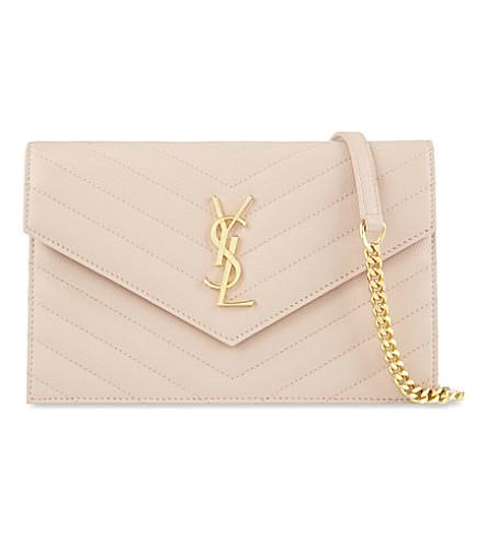 SAINT LAURENT Monogram leather cross-body bag (Pale blush