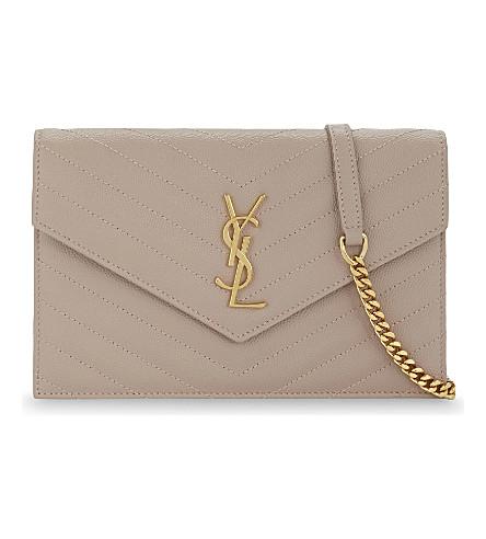 SAINT LAURENT Monogram leather cross-body bag (Rose antic